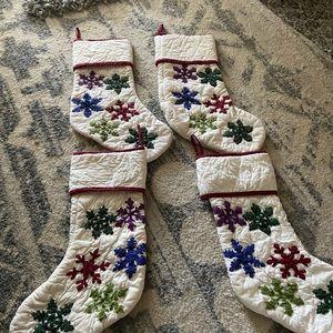 Pottery Barn Christmas stockings